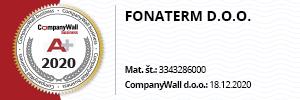 CompanyWall ocena Fonaterm - 2020